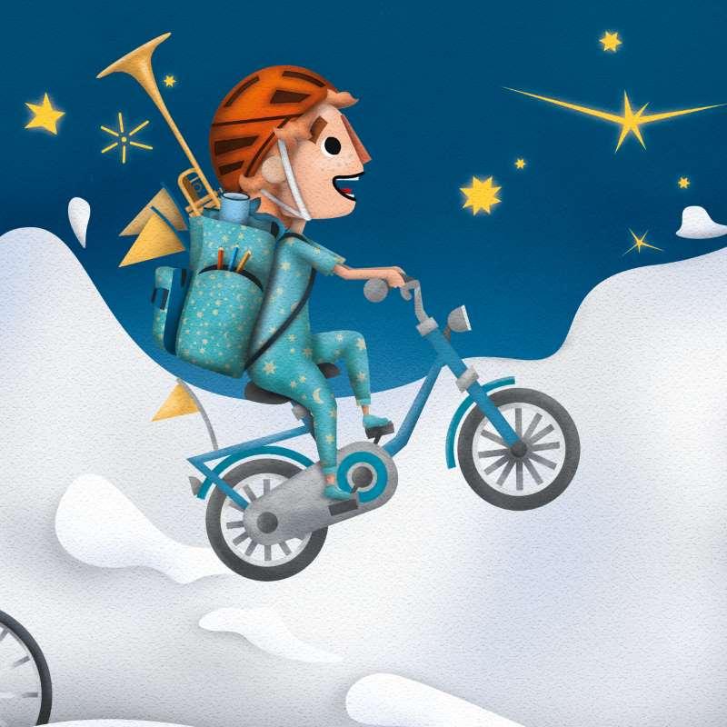 """Illustration von """"Dort oben bei den Sternen"""""""
