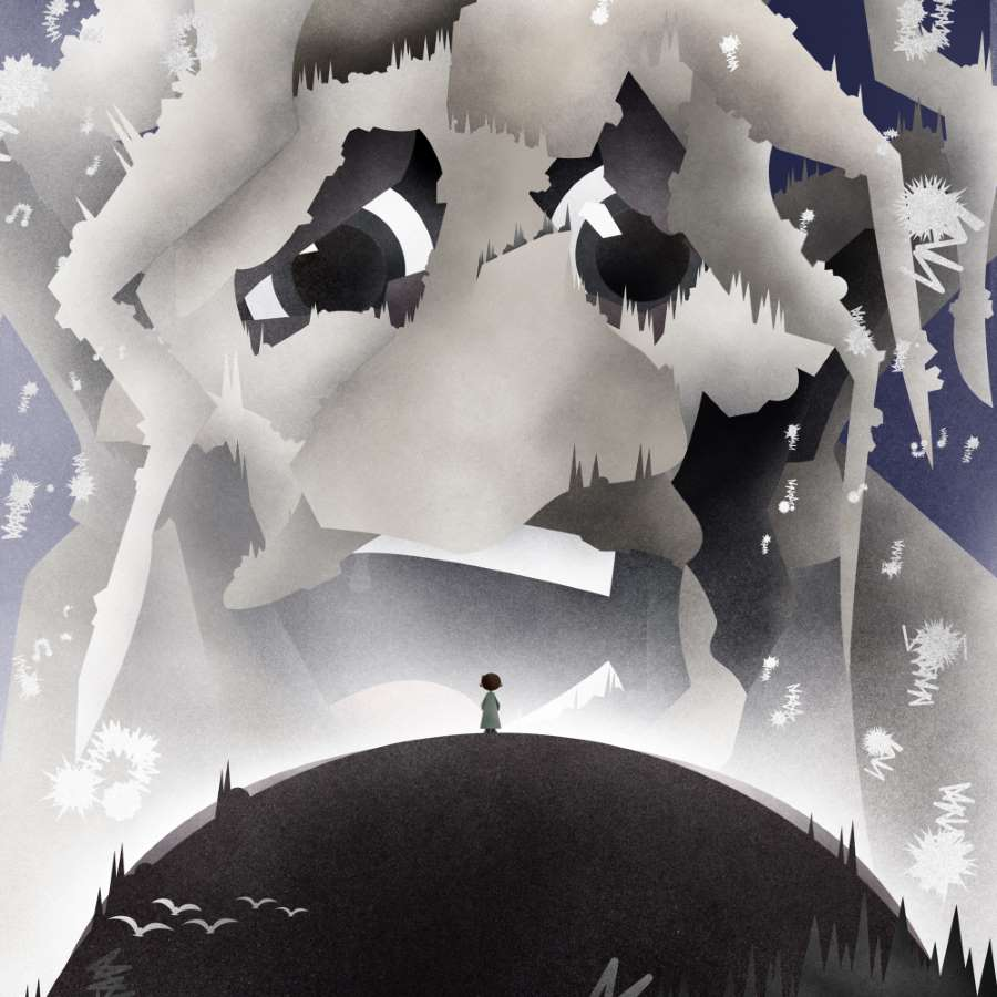 "Illustration from ""Kobi auf dem Mond"""